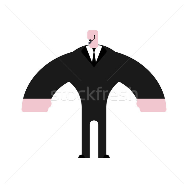 Security guard isolated. Bodyguard in suit. Strong Defender Stock photo © MaryValery