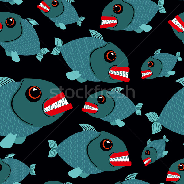 Peixe sem costura lol mar vetor ornamento Foto stock © MaryValery