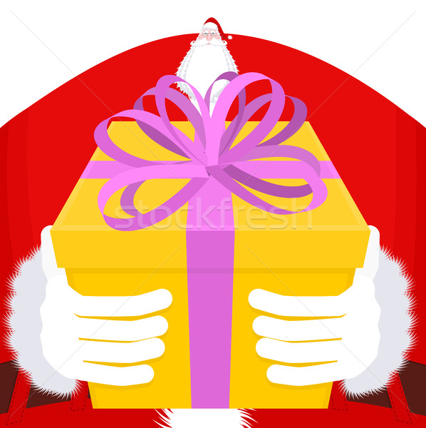Christmas geschenk groot handschoenen vak Stockfoto © MaryValery