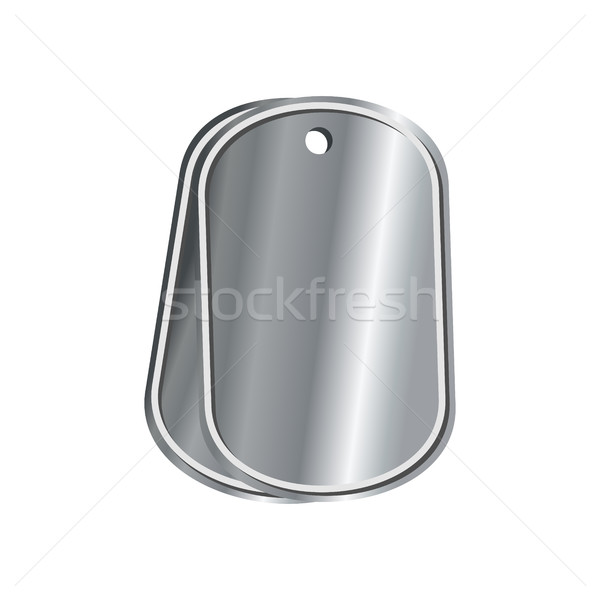dog tags military isolated. death medallion. Soldiers badge isol Stock photo © MaryValery