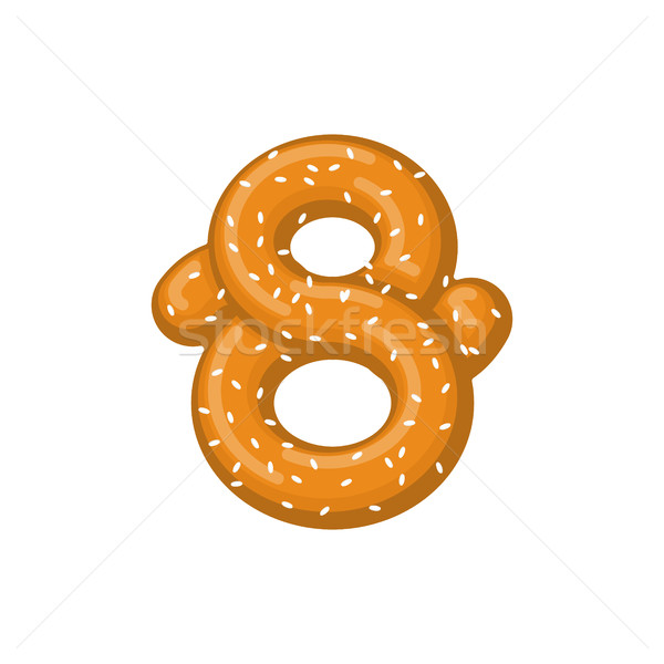 Numero pretzel carattere otto simbolo Foto d'archivio © MaryValery