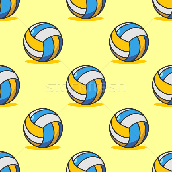Volleyball seamless pattern. Sports accessory ornament. Volleyba Stock photo © MaryValery