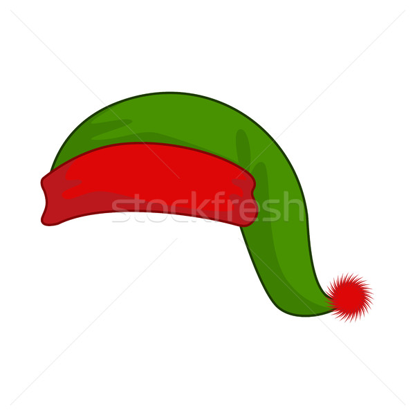 Cap elf helper of Santa Claus. Green hat for fabulous Christmas  Stock photo © MaryValery