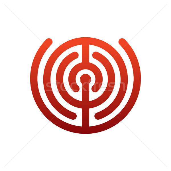 Laberinto logo laberinto emblema empresa negocios Foto stock © MaryValery