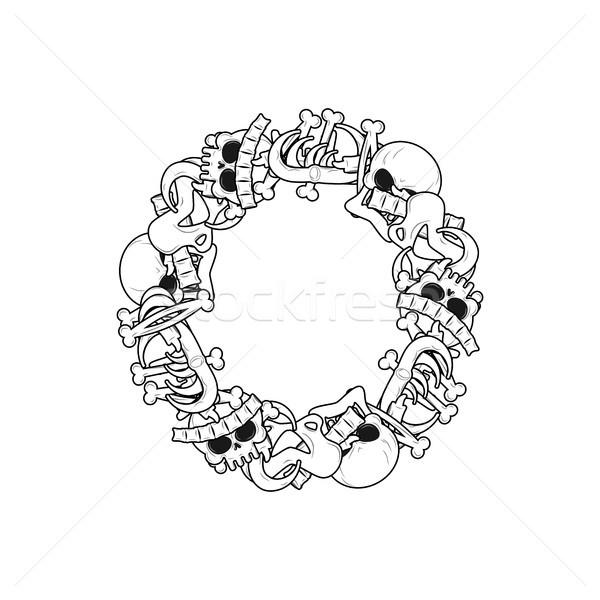 スケルトン 骨 フォント 解剖 アルファベット ストックフォト © MaryValery