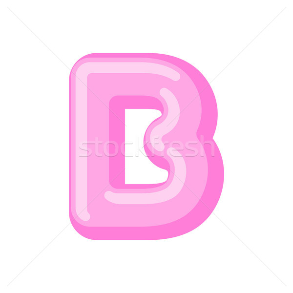 Letter B candy font. Caramel alphabet. lollipop lettering. Sweet Stock photo © MaryValery