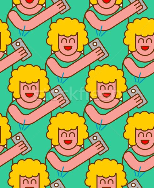 Kobieta wzór zdjęcie telefonu ozdoba moda Zdjęcia stock © MaryValery