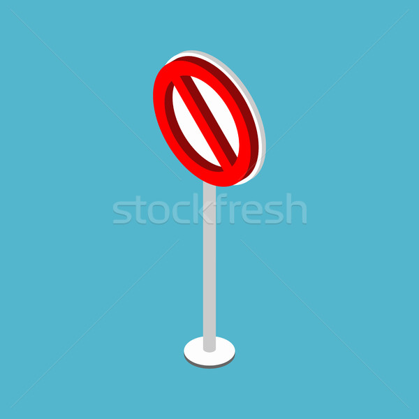 Ban road sign. Stop traffic signal. Prohibited red symbol Stock photo © MaryValery