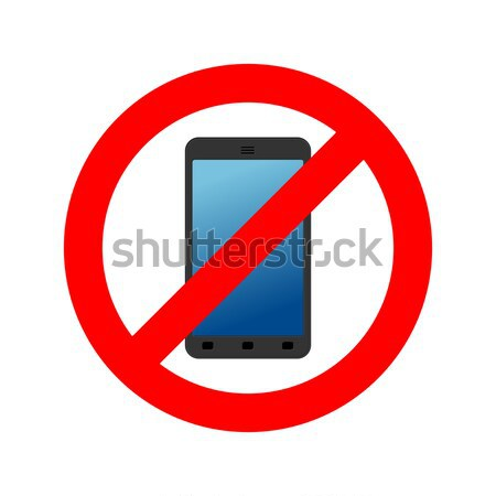 Stop phone. It is forbidden to call. Ban smartphone. Red Circle  Stock photo © MaryValery
