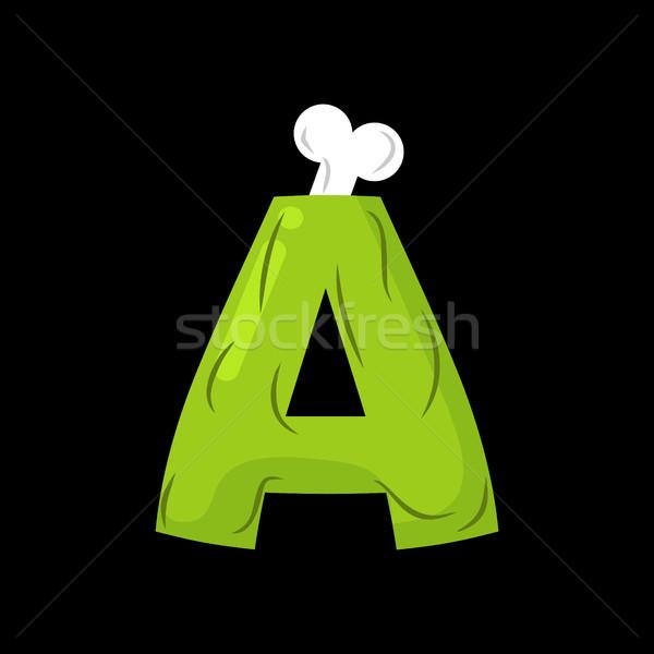 Mektup zombi canavar alfabe kemikleri Stok fotoğraf © MaryValery