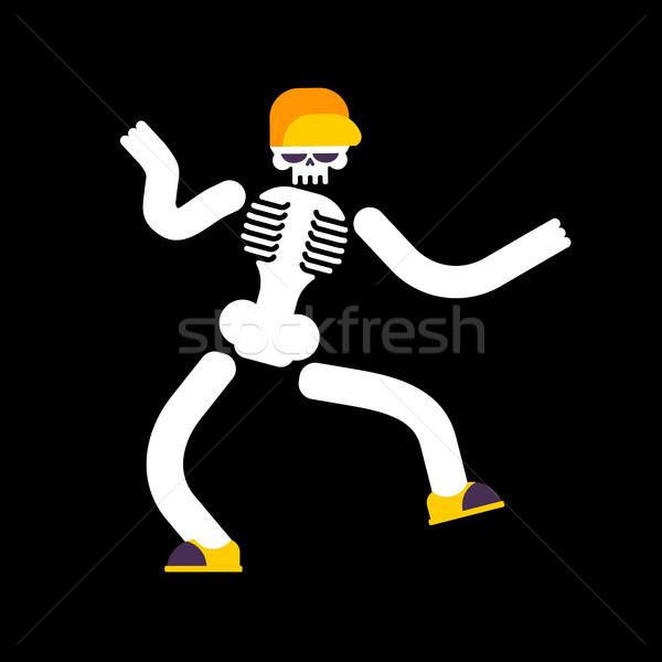 Dans iskelet yalıtılmış kafatası sokak dans Stok fotoğraf © MaryValery
