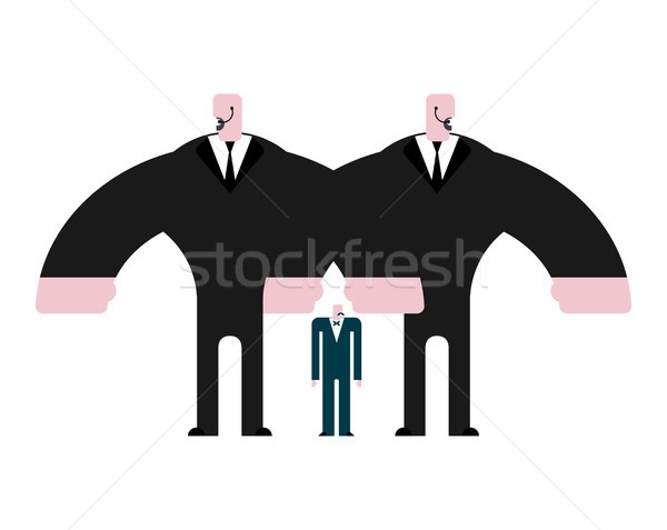 Security guard and boss. Bodyguard in suit. Strong Defender and  Stock photo © MaryValery