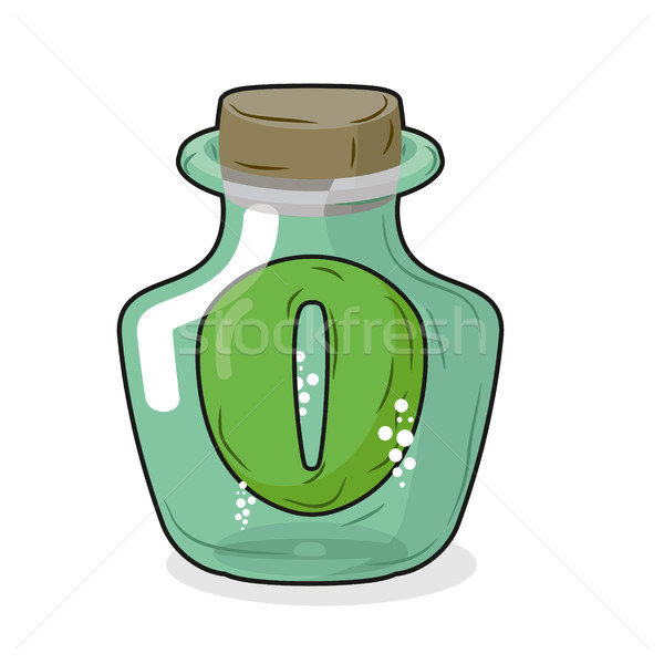Zero in  magical bottle. Number 0 in  bottle for laboratory and  Stock photo © MaryValery