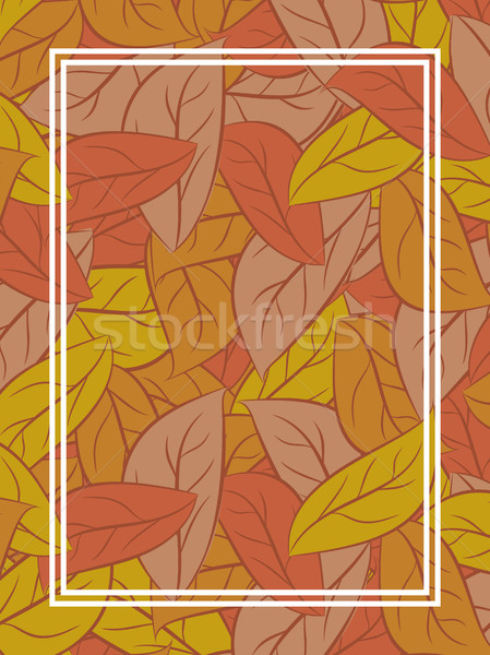 autumn leaves Background. Yellow fallen leaf background Stock photo © MaryValery