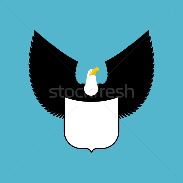 Bald eagle and shield. big strong bird Emblem Stock photo © MaryValery