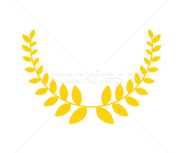 Olive branch is golden wreath. Symbol of victory. Accessory for  Stock photo © MaryValery