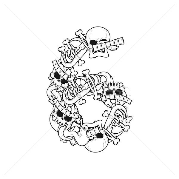 Número esqueleto ossos fonte seis anatomia Foto stock © MaryValery