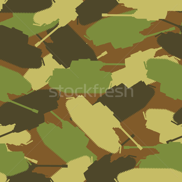 Army tank pattern. Protective military background of military tr Stock photo © MaryValery