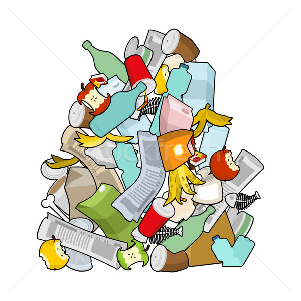 Garbage heap  isolated. Pile Rubbish. Stack trash. litter backgr Stock photo © MaryValery