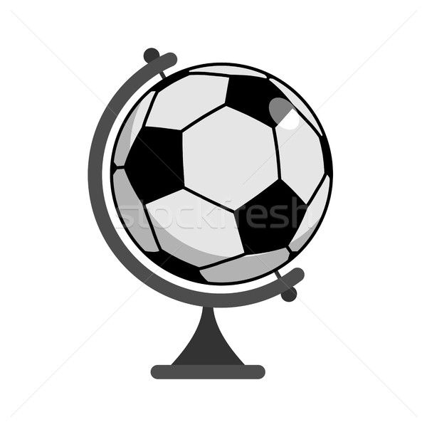 Soccer ball Globe. World game. Sports accessory as earth sphere. Stock photo © MaryValery