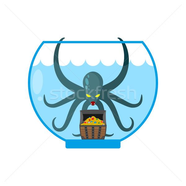 Polip akvárium miniatűr otthon víz terv Stock fotó © MaryValery