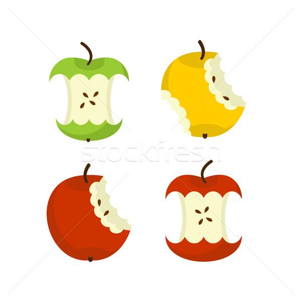 яблоко ядро набор фрукты мусор мусор Сток-фото © MaryValery