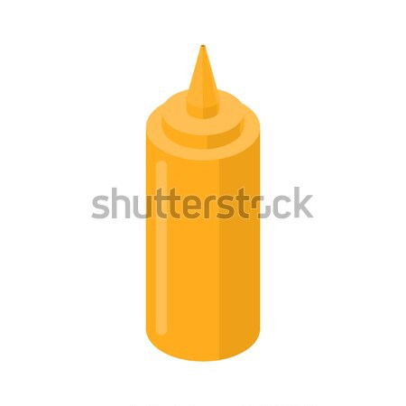 Mustard bottle fastfood. yellow Meal isolated on white backgroun Stock photo © MaryValery