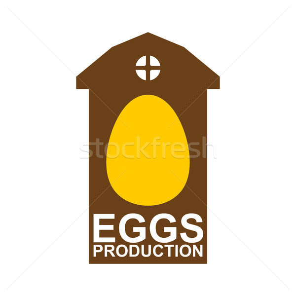 Chicken farm emblem. Egg Farm Logo. Poultry factory sign. Eggs p Stock photo © MaryValery