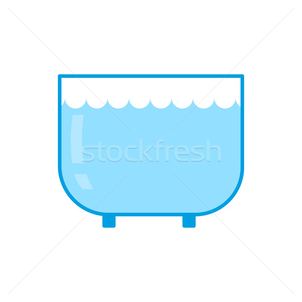Stock photo: Aquarium empty isolated. Glass vessel with water to fish on whit