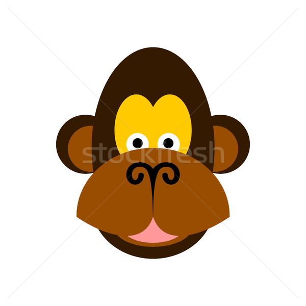 Maymun yüz yalıtılmış şempanze kafa beyaz Stok fotoğraf © MaryValery