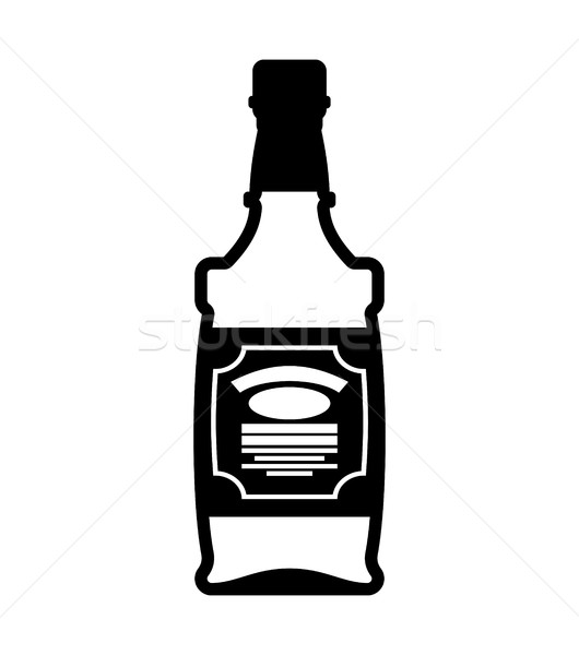 Bottle of whiskey. Bourbon isolated. Tequila on white background Stock photo © MaryValery