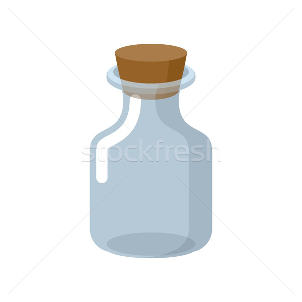 Chemical glass bottle with a wooden stopper. Magic potion bottle Stock photo © MaryValery