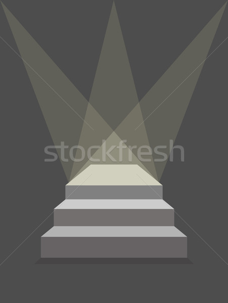 podium with steps and lighting. Pedestal with three steps. Produ Stock photo © MaryValery