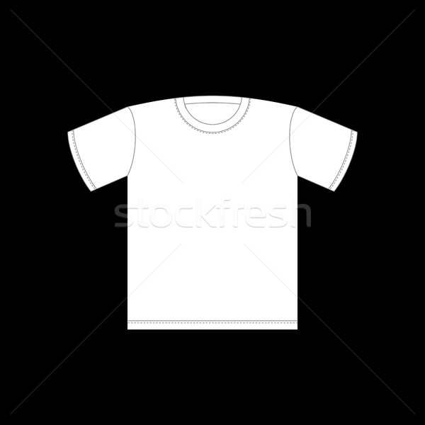White T-shirt template isolated. Clothing on Black background Stock photo © MaryValery