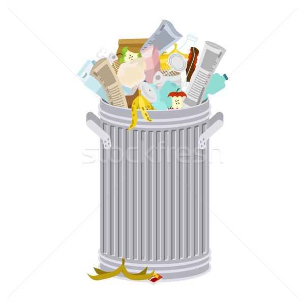çöp kutusu yalıtılmış çöp beyaz Stok fotoğraf © MaryValery