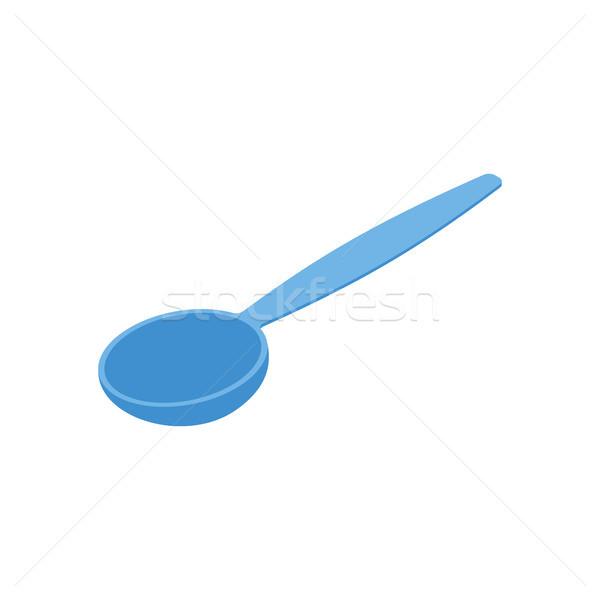 青 スプーン 孤立した カトラリー 白 食品 ストックフォト © MaryValery