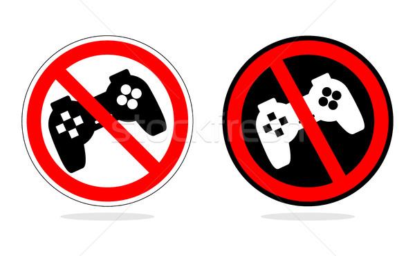 再生 禁止 にログイン コンピュータ ゲーム ジョイスティック ストックフォト © MaryValery