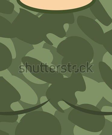 Military torso. Soldier Chest. Army clothes background Stock photo © MaryValery