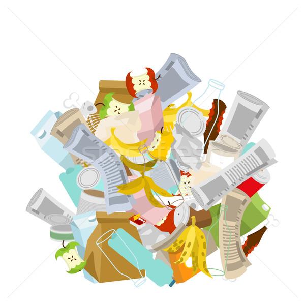 Stock fotó: Halom · szemét · izolált · köteg · hulladék · szemét