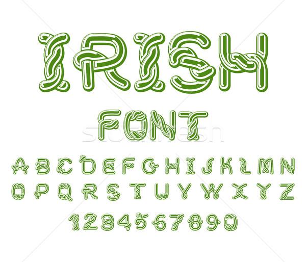 アイルランド フォント ケルト アルファベット 伝統的な 飾り ストックフォト © MaryValery