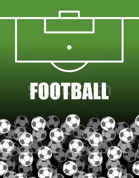 football field and Ball. Lot of balls. Soccer background. Sports Stock photo © MaryValery