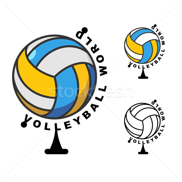 World volleyball. Globe ball game. Sports accessory as earth sph Stock photo © MaryValery