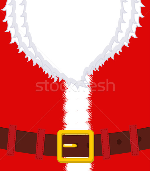 Santa Claus belly. Beard and Belt. Red Christmas clothes. Xmas t Stock photo © MaryValery