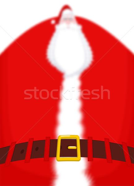 サンタクロース ぼやけた 胴 ベルト フォーカス 巨大な ストックフォト © MaryValery