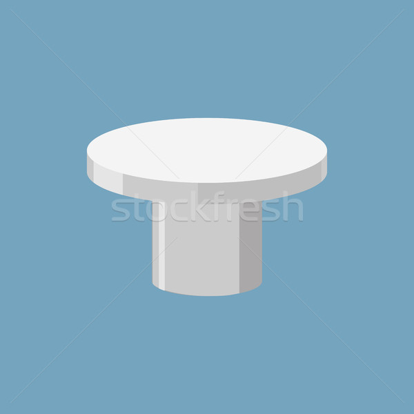 Silver pedestal isolated. Stand for rewarding on white backgroun Stock photo © MaryValery
