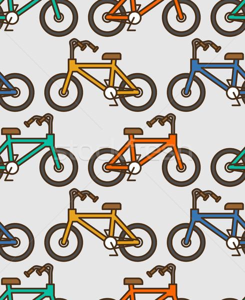 自転車 パターン スタイル リニア 飾り ストックフォト © MaryValery