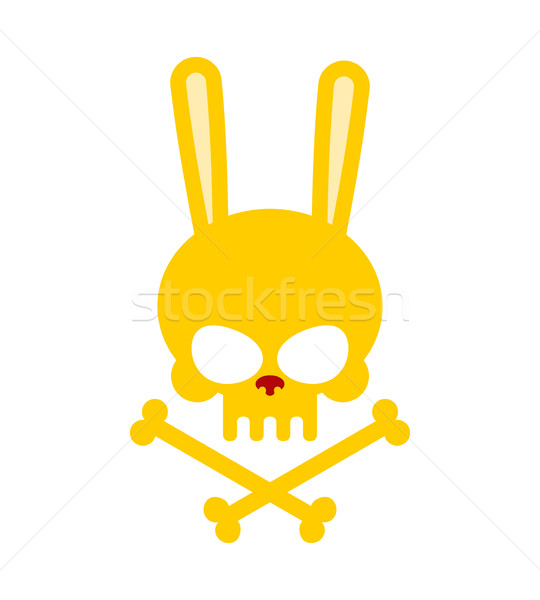 Cute rabbit skull with bones. Good, Honey Head skeleton Hare. lo Stock photo © MaryValery