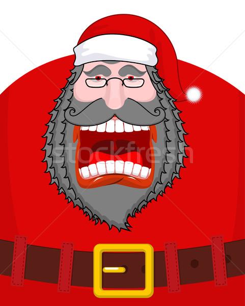 Gonosz sötét mikulás fekete szakáll bajusz Stock fotó © MaryValery