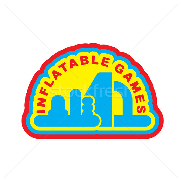 Inflatable Games logo. Emblem for water park amusement Stock photo © MaryValery