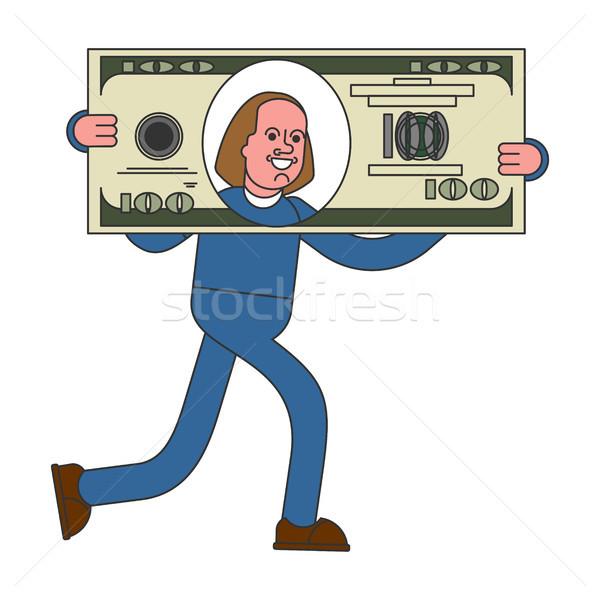 üzletember nagy dollár hatalmas profit pénz Stock fotó © MaryValery